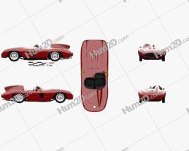 Ferrari 857 Sport Scaglietti Spider 1955 car clipart
