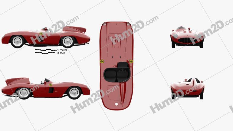 Ferrari 857 Sport Scaglietti Spider 1955 Clipart Image