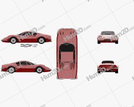 Ferrari Dino 246 GT 1969 car clipart