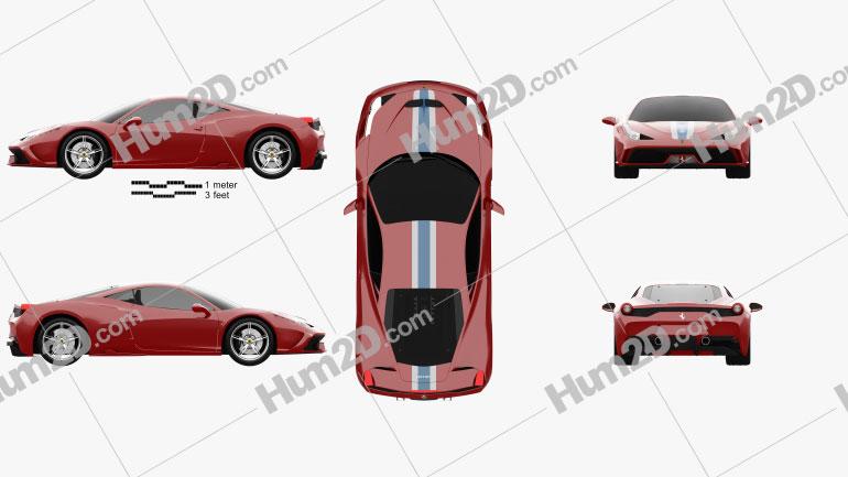 Ferrari 458 Speciale 2013 car clipart