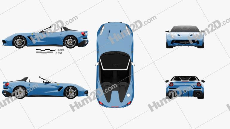 Ferrari F60 America 2015 Clipart Image