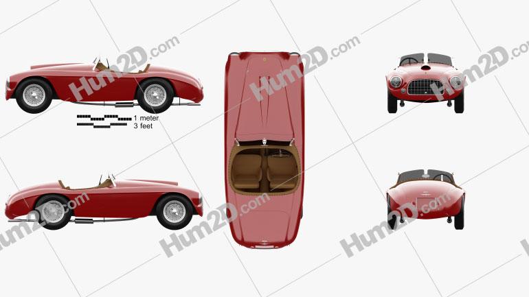 Ferrari 166 MM Barchetta 1948 Clipart Image