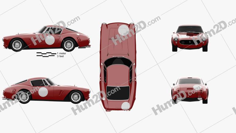 Ferrari 250 GT SWB Berlinetta Competizione 1960 car clipart