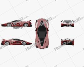 Ferrari FXX-K 2015 car clipart