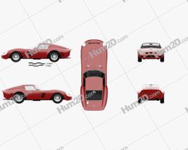 Ferrari 250 GTO (Series I) with HQ interior 1962 car clipart