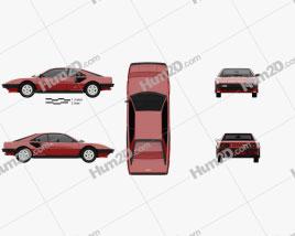 Ferrari Mondial 8 1980 car clipart