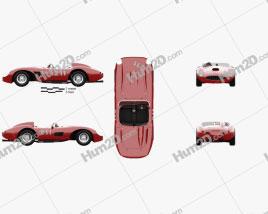 Ferrari 625 TRC 1957 car clipart