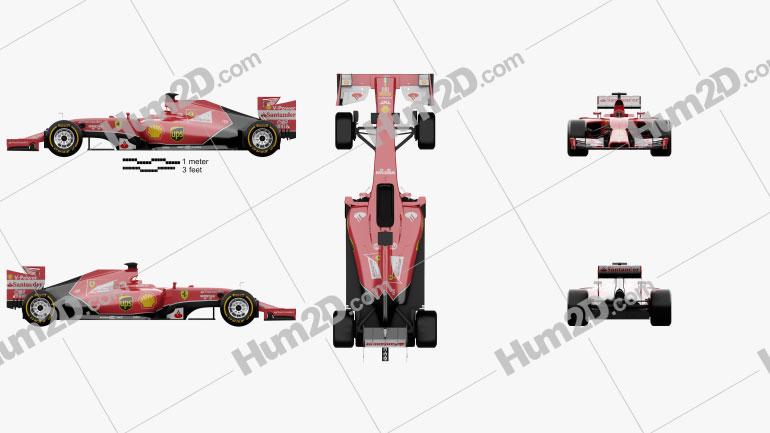 Ferrari F14 T 2014 car clipart