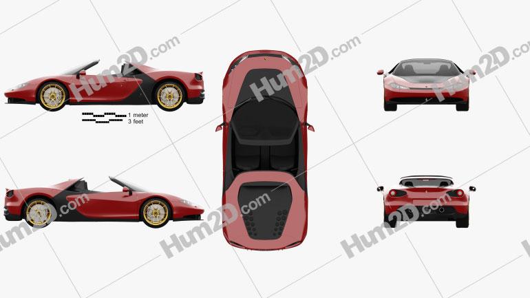 Ferrari Sergio 2014 car clipart
