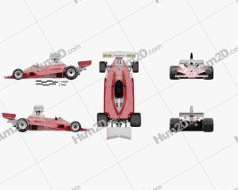 Ferrari 312 T 1975 car clipart