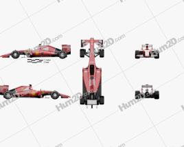Ferrari SF15-T 2015 car clipart