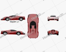 Ferrari Thomassima II 1967 car clipart