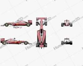 Ferrari SF16-H 2016 car clipart