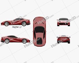 Ferrari 812 Superfast 2017 car clipart