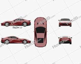 Ferrari Portofino 2018 car clipart