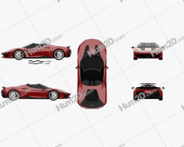 Ferrari J50 2016 car clipart