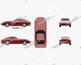 Ferrari 275 GTB4 1966 car clipart