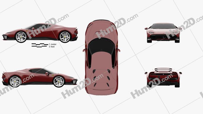 Ferrari SP38 2018 car clipart