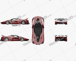Ferrari FXX K with HQ interior 2015 car clipart