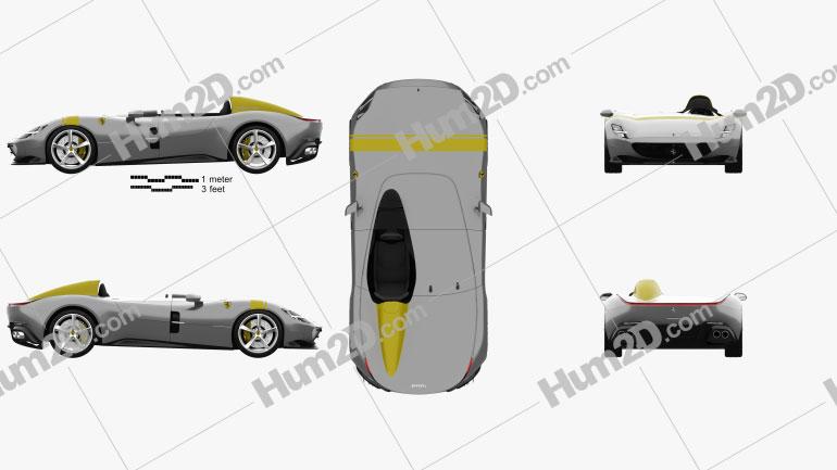 Ferrari Monza SP1 2018 car clipart