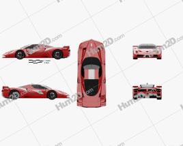 Ferrari FXX Evoluzione 2007 car clipart