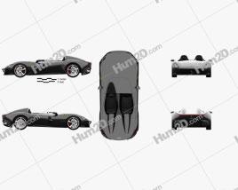 Ferrari Monza SP2 2018 car clipart