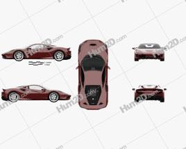 Ferrari F8 Tributo with HQ interior 2019 car clipart