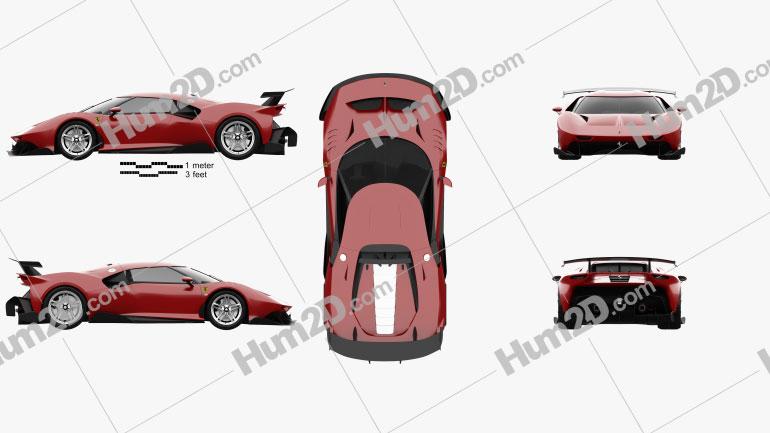 Ferrari P80 C 2019 car clipart