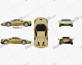 Ferrari F8 spider 2019 car clipart