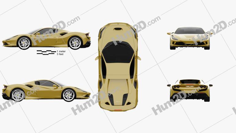 Ferrari F8 spider 2019 Clipart Image