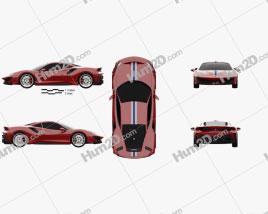 Ferrari 488 Pista 2018 car clipart