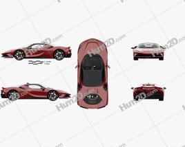 Ferrari SF90 Stradale with HQ interior and engine 2020