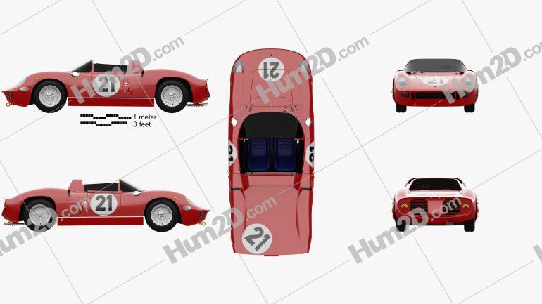 Ferrari 250 P 1963 Clipart Image