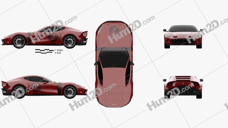 Ferrari Omologata 2020 Clipart Image