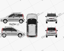 Fiat Panda car clipart