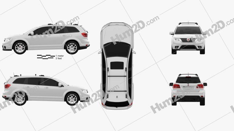Fiat Freemont 2011 car clipart
