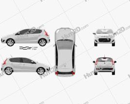 Fiat Palio 2012 car clipart