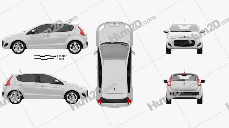 Fiat Palio 2012 Clipart Image