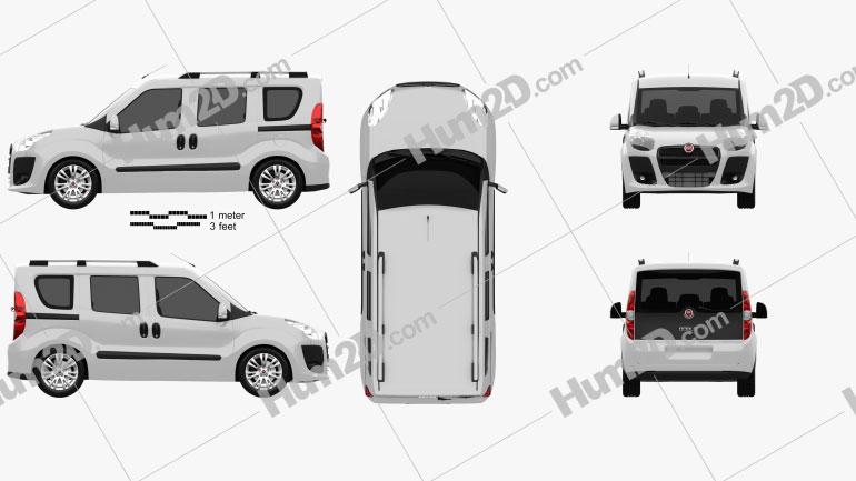 Fiat Nuovo Doblo Combi 2011 clipart