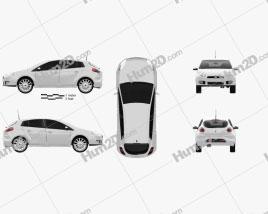 Fiat Bravo 2011 car clipart