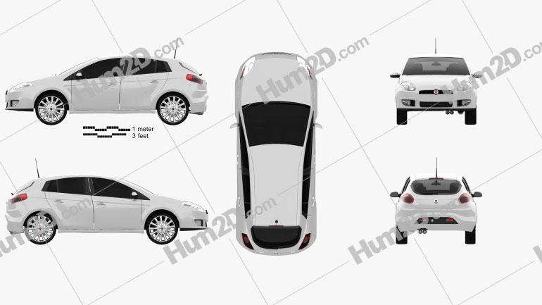 Fiat Bravo 2011 Clipart Image
