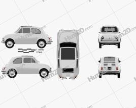Fiat 500 1970 car clipart