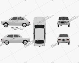 Fiat 127 1975 car clipart