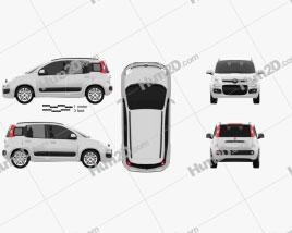 Fiat Panda 2012 car clipart