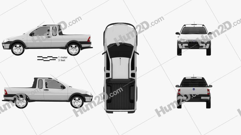Fiat Strada III 2004 Clipart Image