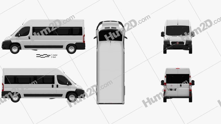 Fiat Ducato Minibus 2012 clipart