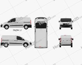 Fiat Scudo Furgon ShortWheelbase 4-door 2011 clipart