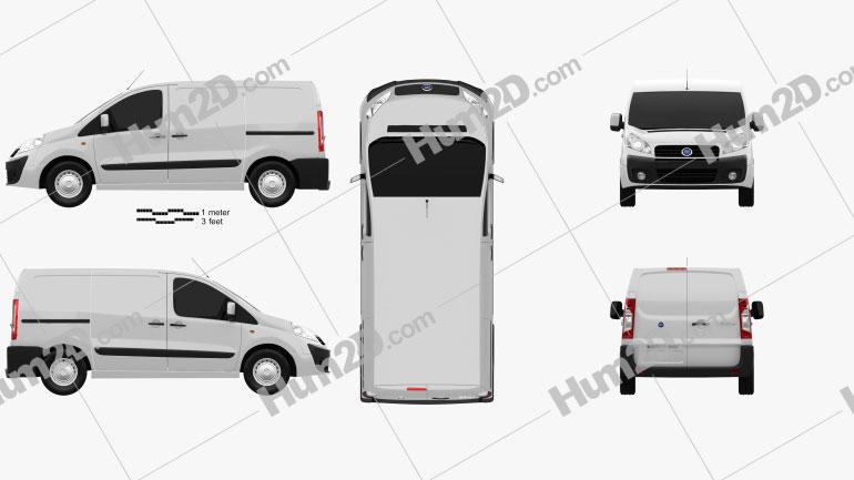 Fiat Scudo Furgon ShortWheelbase 4-door 2011 Clipart Image