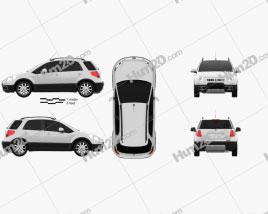 Fiat Sedici 2010 car clipart