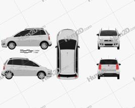 Fiat Idea 2012 car clipart